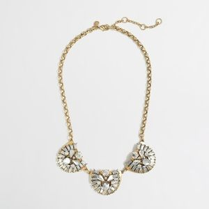 J Crew Crystal Trio Necklace